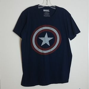 Marvel Mad Engine Captain America Tee sz L